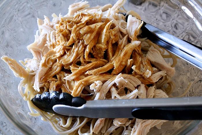 Sesame Chicken Spicy Noodles