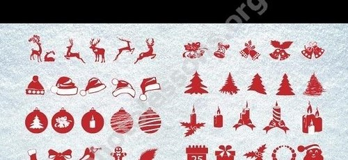 PSD source – new year (xmas) clipart for Photoshop