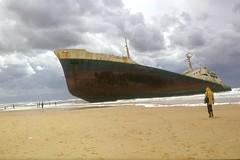 Boats wrecks in France