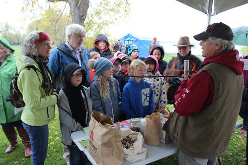 <p>Robertson Founding Director, OISE Dean Glen Jones, Maurice Switzer join students to learn about traditional medicine</p>