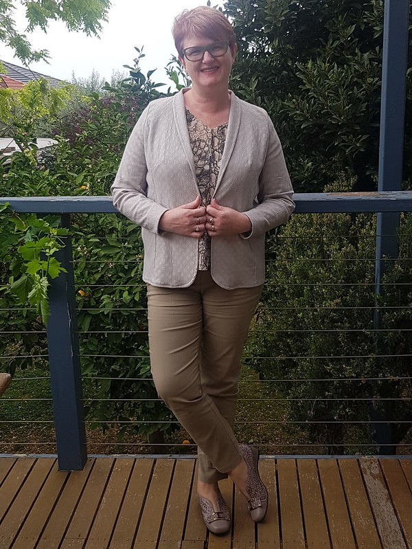 Hot Patterns Metropolitan Chimera jacket in jacquard stretch woven