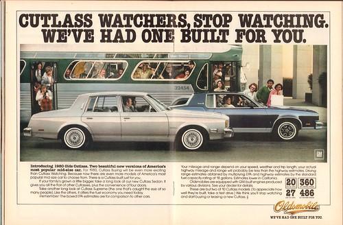 1980 Oldsmobile Cutlass Advertisement Time Magazine November 12 1979