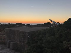 Sunset over Battery Moltke, Les Landes, Jersey.
