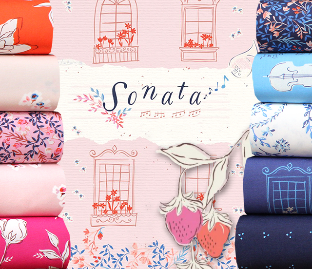 Art Gallery Fabrics Sonata Collection by Amy Sinibaldi