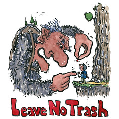 illustration-leave-no-trash-trace-litter-troll-by-frits-ahlefeldt