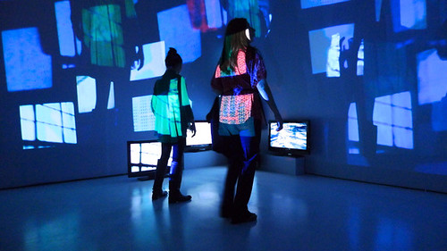 Reverb, site-specific multi-channel video installation, Museo Universitario del Chopo, Mexico City, 2012. Artist Nayda Collazo-Llorens