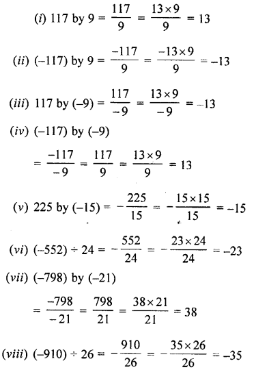 Selina Concise Mathematics Class 7 ICSE Solutions Chapter 1 Integers