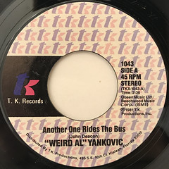 WEIRD AL YANKOVIC:ANOTHER ONE RIDES THE BUS(LABEL SIDE-A)