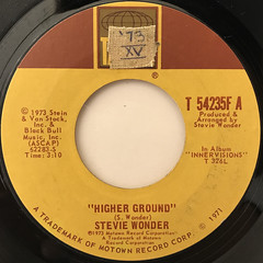 STEVIE WONDER:HIGHER GROUND(LABEL SIDE-A)