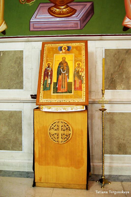 Одна из икон в соборе