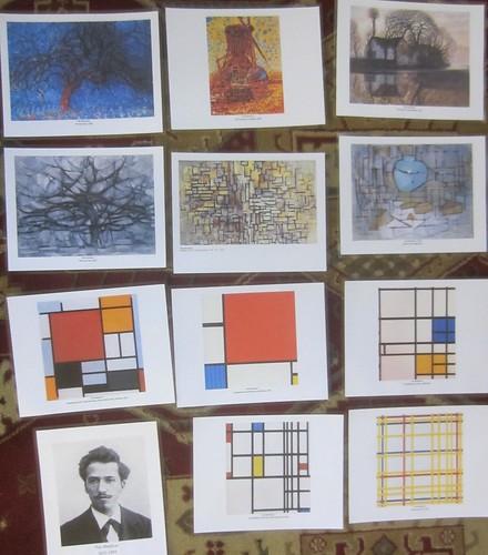 Piet Mondrian art style transition