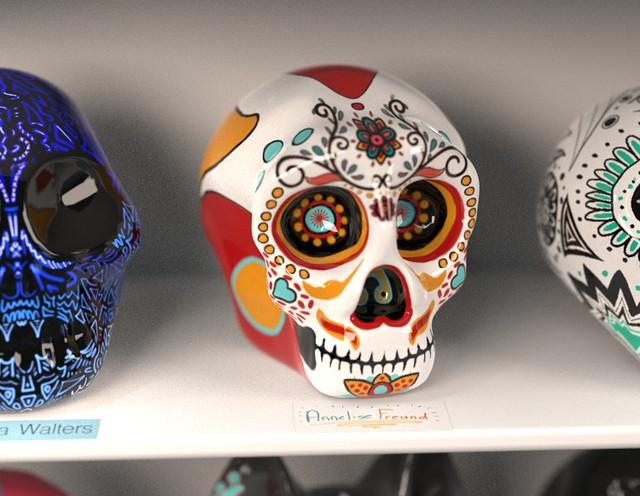 Virtual 3D Illustration Skulls