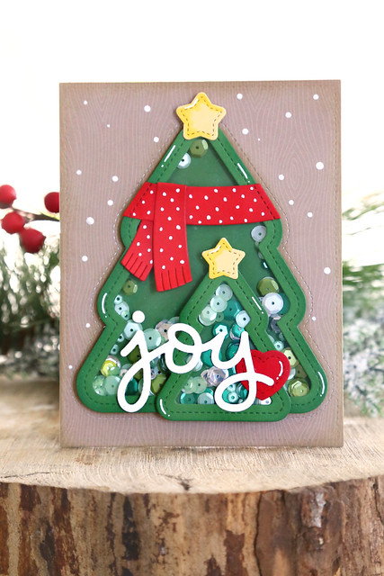Christmas tree shakers (Lawn Fawn inspiration week)