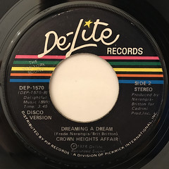 CROWN HEIGHTS AFFAIR:DREAMING A DREAM(LABEL SIDE-B)