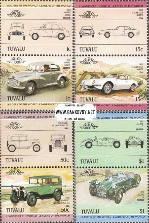 Známky Tuvalu 1984 Staré automobily, séria 268-275