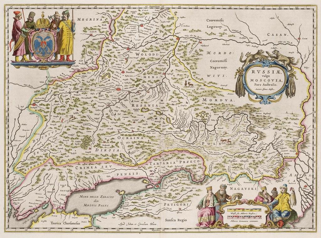 1664. Карта России