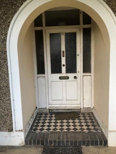Hall Door Before Cleaning
