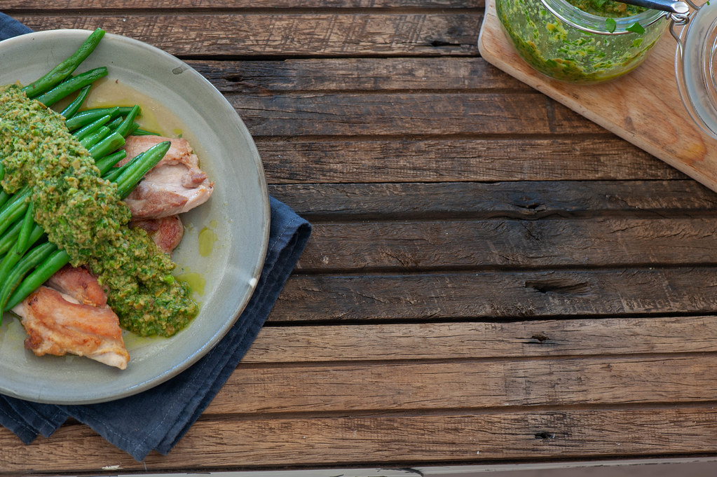 Minute Chicken with Green Olive Chimmichurri-2