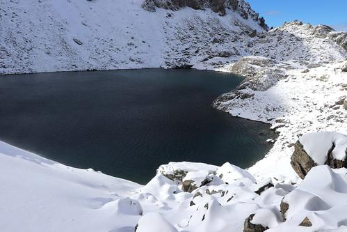 Le Lac du Crozet (1 986 m) plutôt bas