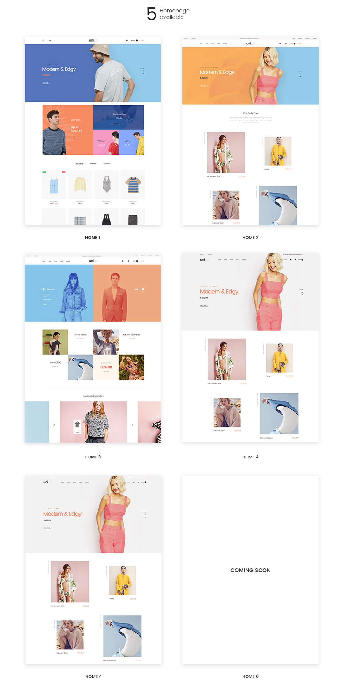 Leo Uni Co - Unisex Fashion and Accessories Store - multi homepages
