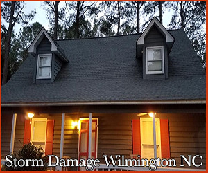 storm damages in Wilmington, NC
