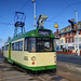UK Blackpool - English Electric Railcoach tram 680 at Cabin