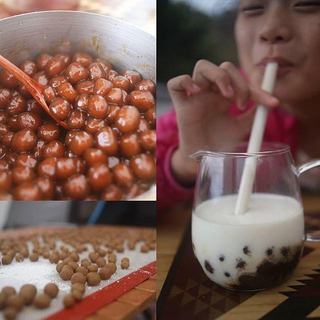 20181013 在營地自製黑糖珍珠鮮奶 好吃又好玩呀 #歐北露 #campinglife #ilovecamping #黑糖珍珠鮮奶