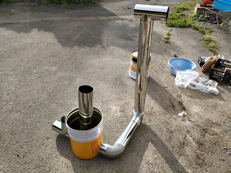 ビニールハウス用のストーブを作る (29)