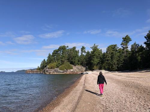 Lake Superior Park Linda on the beach
