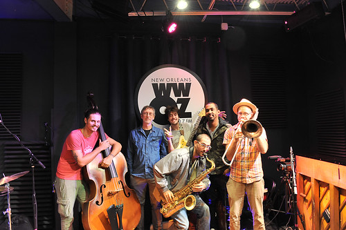 Charlie Halloran and the Calypsonians at WWOZ - 10.22.18. Photo by Michael E. McAndrew.