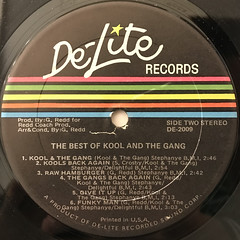 KOOL & THE GANG:THE BEST OF  KOOL AND THE GANG(LABEL SIDE-B)