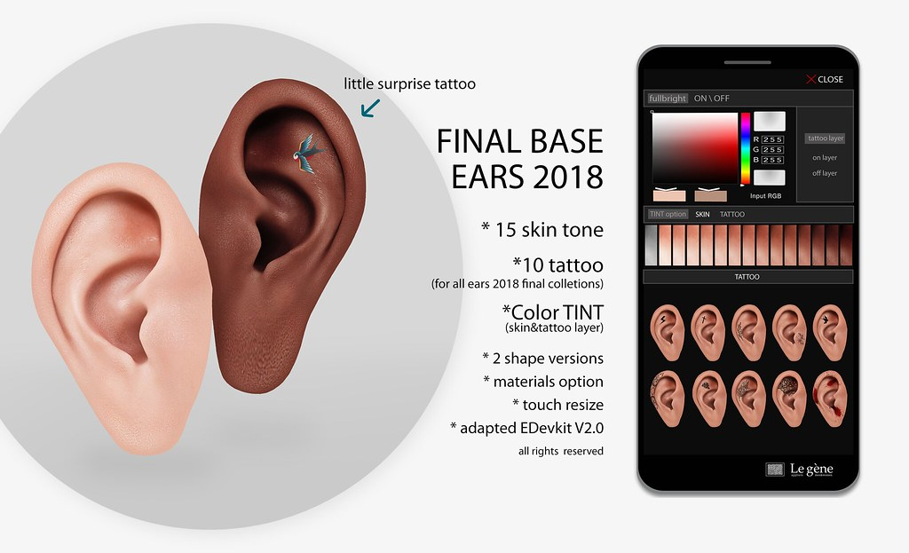 :leG: Final mesh ears 2018 and Limited (only until 8th nov) Group Gift!