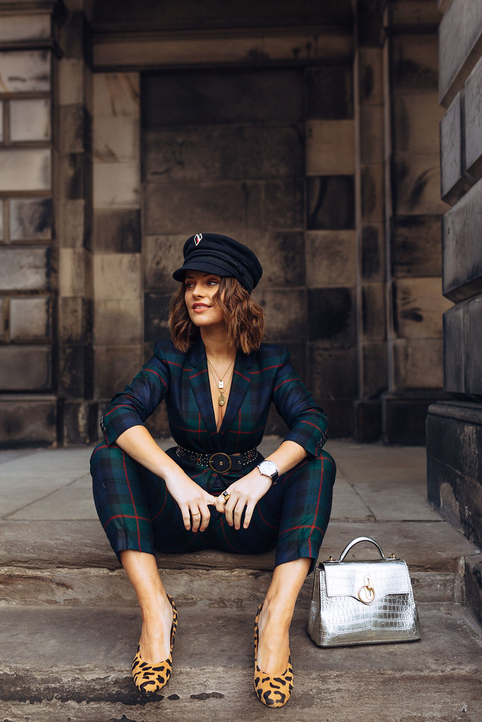 The Little Magpie Paul Smith green and blue tartan tailored suit