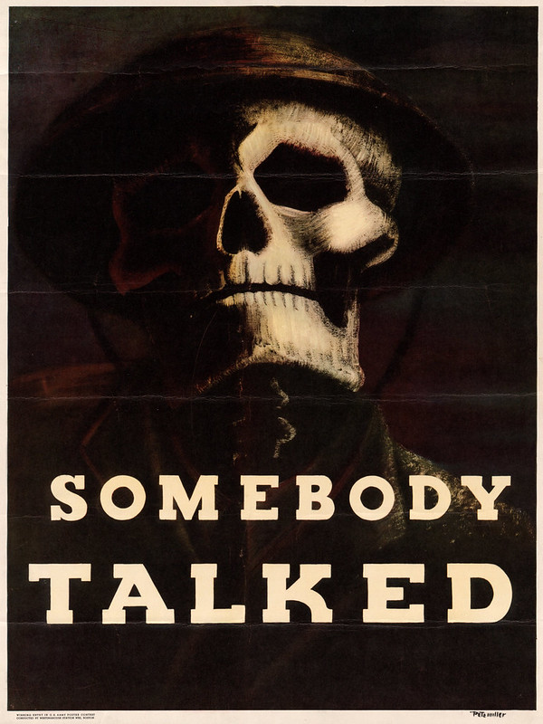 Somebody - talked! – by Pete Miller