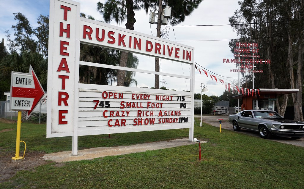 Ruskin Family Drive-In Theatre First Opened in 1952, Ruskin, Fla., Oct. 2018.