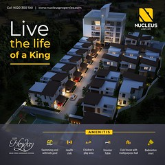 The limited villa and apartment project, Nucleus Heyday is designed to transform the burgeoning suburb of Kochi - Kakkanad.   Everything right from the start to finish has been completed with ceaseless passion to bring to you the finest in luxury living.