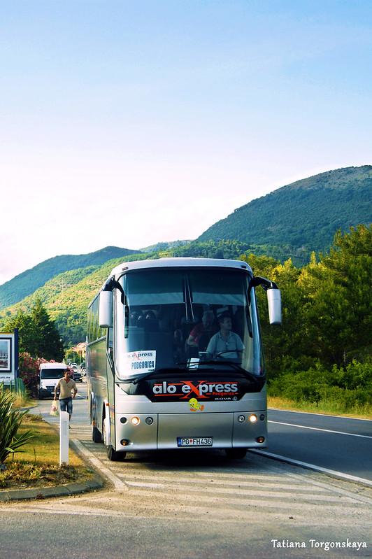 Междугородний автобус из Игало в Подгорицу