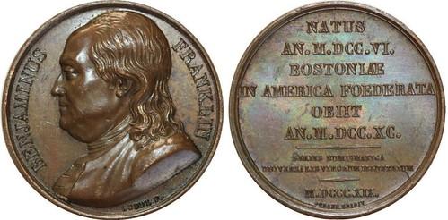 1819 Franklin Numismatica GM-45 Var Medal