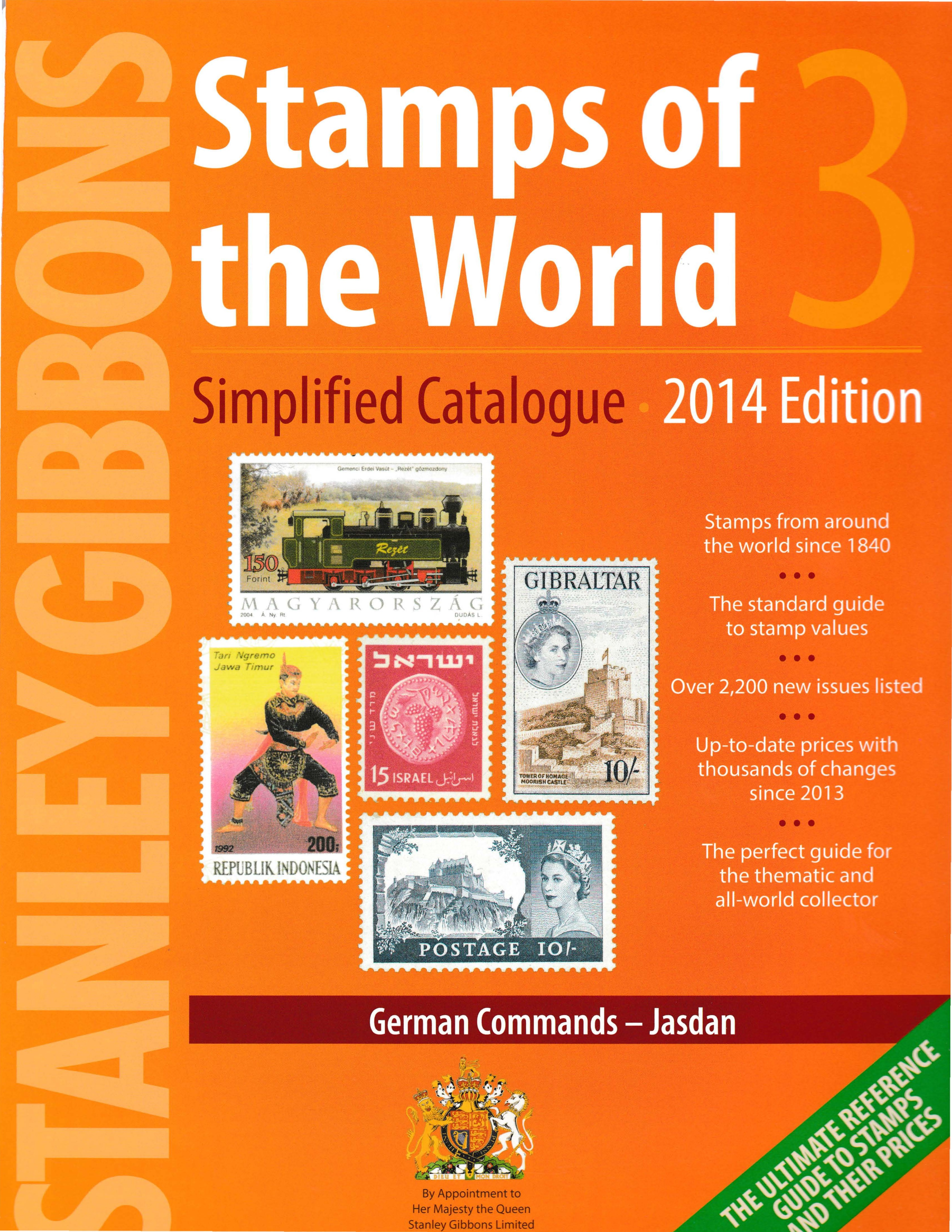 Stanley Gibbons Stamps of the World - Simplified Volume 3, 2014 edition