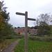 Bourn Brook Walkway, Quinton - fingerpost