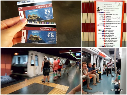 Rome subway tickets