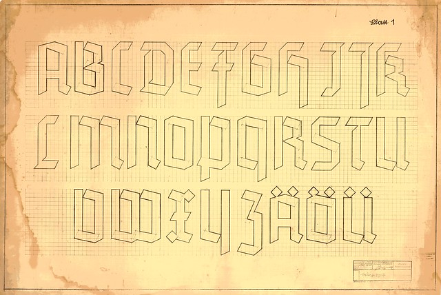 Reichsbahn Deutsche Schrift, Blatt 1