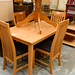 E175 set -solid wood hardwood kitchen table