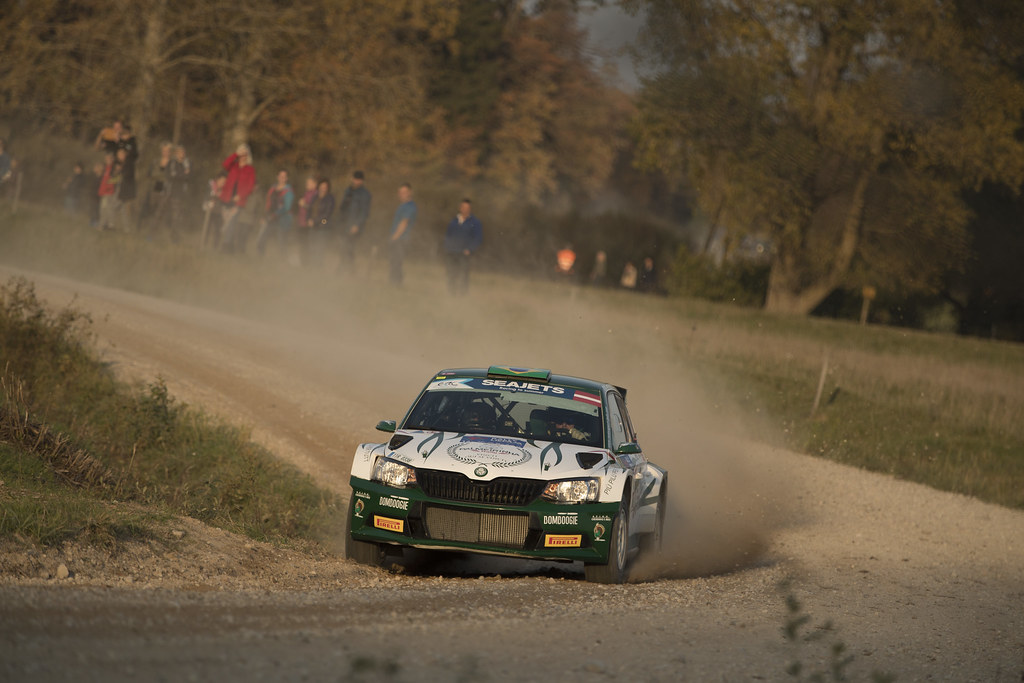 14 NOBRE Paulo, (BRA), Gabriel MORALES, (BRA), Palmeirinha Rally, Skoda Fabia R5, Action during the 2018 European Rally Championship ERC Liepaja rally,  from october 12 to 14, at Liepaja, Lettonie - Photo Gregory Lenormand / DPPI