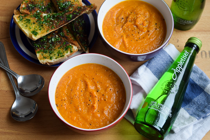 Slow Roasted Tomato and Butternut Squash Soup