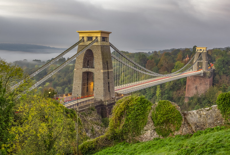 Clifton Suspension Bridge Before Sunrise