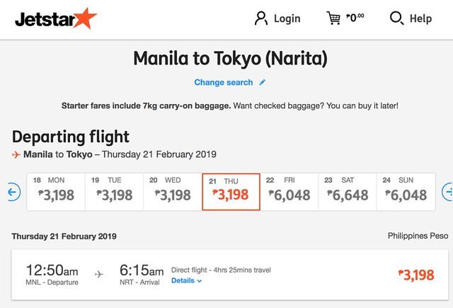 Jetstar Weekend Frenzy Fare Manila to Singapore Feb 2019