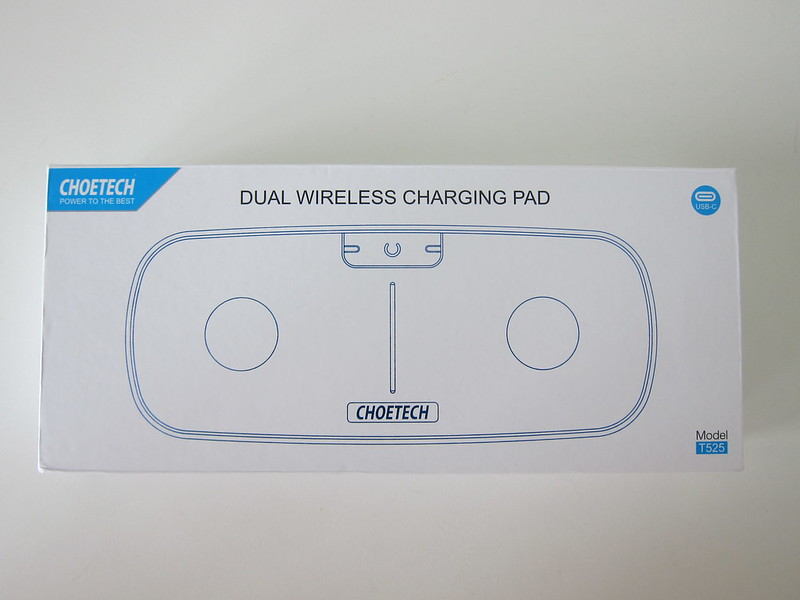 Choetech Dual Wireless Charging Pad - Box Front