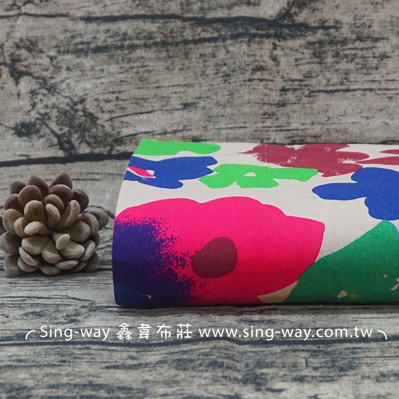 水彩花 彩繪花卉 塗鴉 夏季服裝布料 CH890248