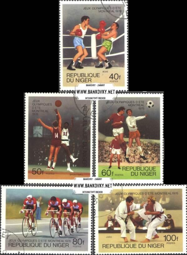 Známky Niger 1976 OH Montreal, razítkovaná séria